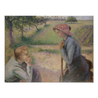 Two Young Peasant Women Poster
