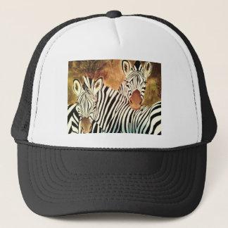 two zebras trucker hat