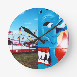 TwoFace Fair Photo Round Clock