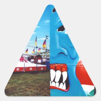 TwoFace Fair Photo Triangle Sticker