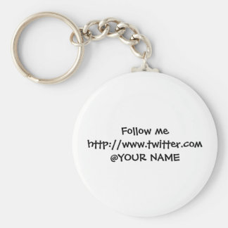 Twosse name tag basic round button keychain