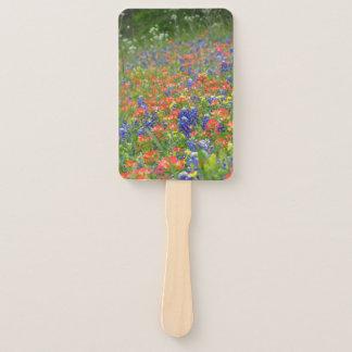 TX  wildflowers hand fan