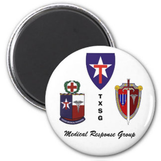 TXSG Medical Response Group 2 Inch Round Magnet