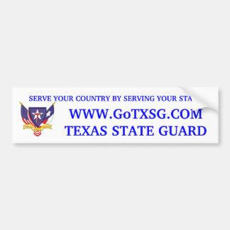 TXSG Recruiting Sticker Bumper Sticker
