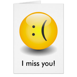 Txt Smiley - Sad Card
