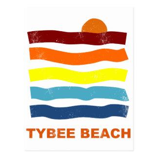 tybee beach ocean sunset summer vacation fun postcard