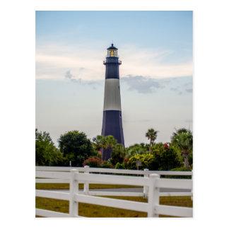 tybee island beach lighthouse north carolina thund postcard