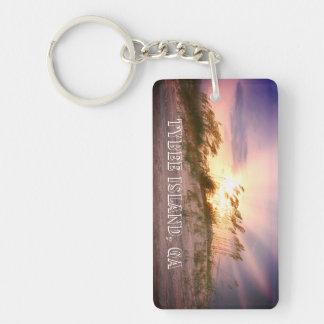 Tybee Island, GA Sunset Keychain