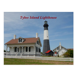Tybee Island, Georgia lighthouse Postcard