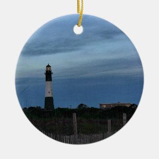 Tybee Island Light House Savannah, GA Round Ceramic Ornament