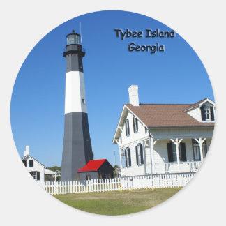 Tybee Island Lighthouse Classic Round Sticker