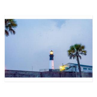 tybee island lighthouse  savannah georgia ocean be postcard