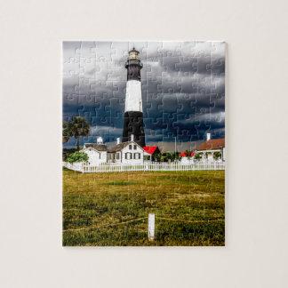 tybee island lighthouse savannah georgia ocean eve jigsaw puzzle