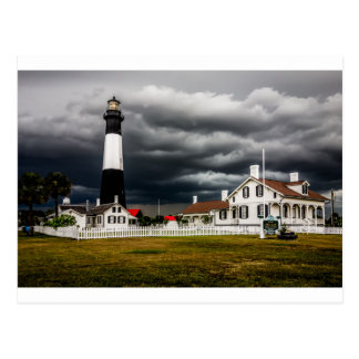 tybee island lighthouse savannah georgia ocean eve postcard