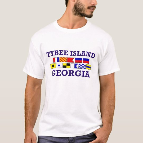 Tybee Island Nautical Flag T-Shirt