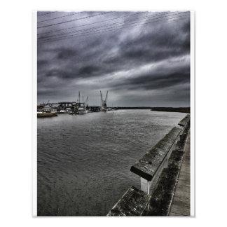 Tybee Storm Art Photo