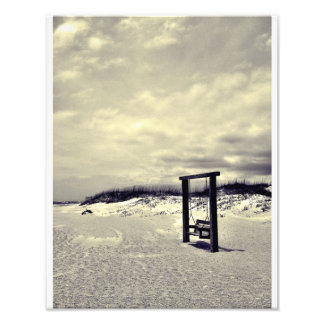 Tybee Swing (black and white) Art Photo