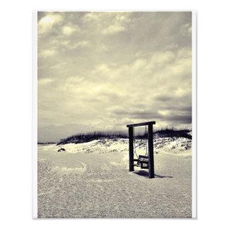 Tybee Swing (black and white) Art Photo