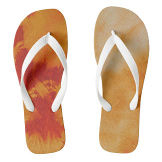 Tye Dye Composition #12 by Michael Moffa Flip Flops