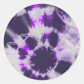 Tye Dye Composition #1 by Michael Moffa Round Sticker
