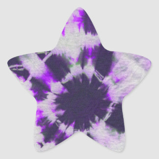 Tye Dye Composition #1 by Michael Moffa Star Sticker
