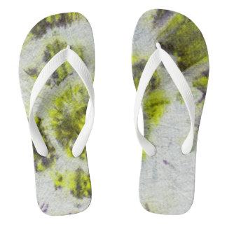 Tye Dye Composition #3 by Michael Moffa Flip Flops