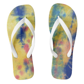 Tye Dye Composition #5 by Michael Moffa Flip Flops