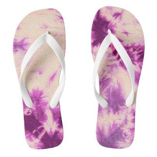Tye Dye Composition #7 by Michael Moffa Flip Flops