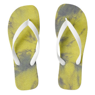 Tye Dye Composition #8 by Michael Moffa Flip Flops