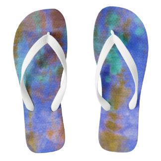 Tye Dye Composition #9 by Michael Moffa Flip Flops