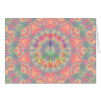 tye dye peace card