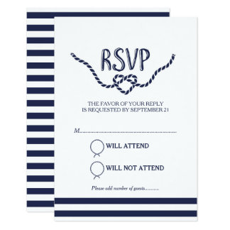 Tying the Knot Calligraphy RSVP Card