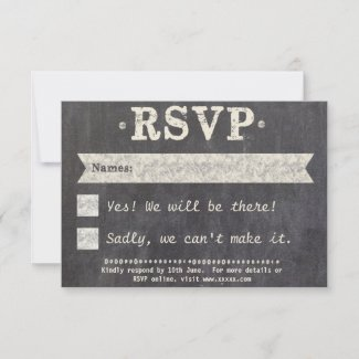 Tying the Knot Chalkboard Gay RSVP