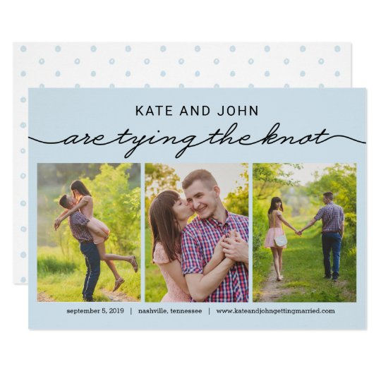 Tying The Knot EDITABLE COLOR Save The Date Card