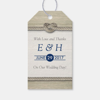 Tying The Knot Rustic Beach Wedding Gift Tags