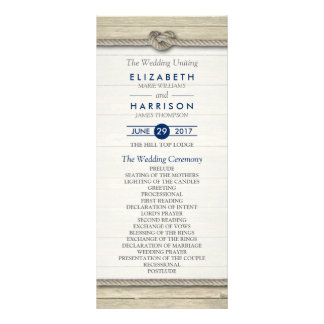 Tying The Knot Rustic Beach Wedding Program