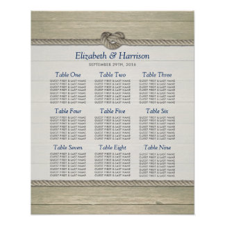 Tying The Knot Rustic Beach Wedding Seating Chart