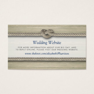 Tying The Knot Rustic Beach Wedding Website Insert