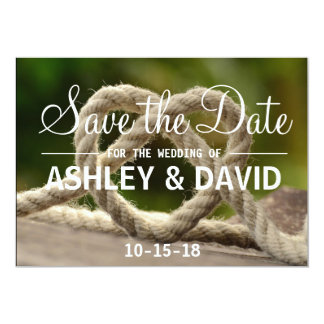 Tying the Knot Save the Date Card