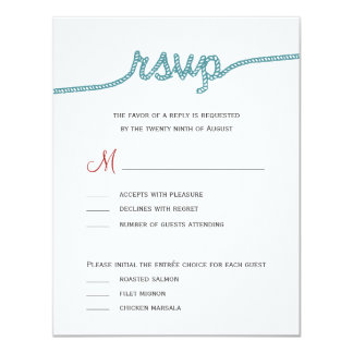 Tying The Knot Wedding RSVP cards