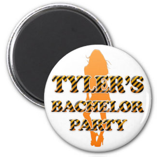 Tyler's Bachelor Party 2 Inch Round Magnet