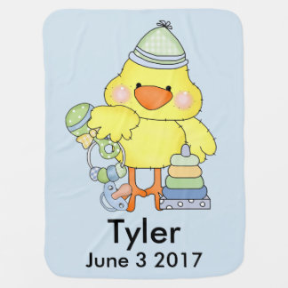 Tyler's Personalized Baby Chick Baby Blanket
