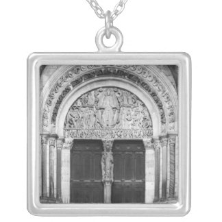 Tympanum with the Last Judgement Silver Plated Necklace