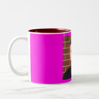 tynan against a wall Two-Tone coffee mug
