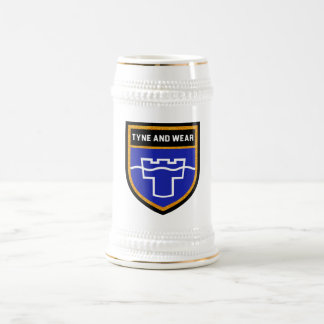 Tyne and Wear Flag Beer Stein