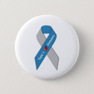 Type 1 Diabetes Awareness Ribbon 2 Inch Round Button