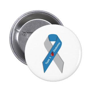 Type 1 Diabetes Awareness Ribbon 2 Inch Round Button