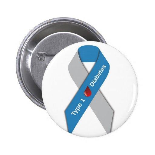 Type 1 Diabetes Awareness Ribbon Pin
