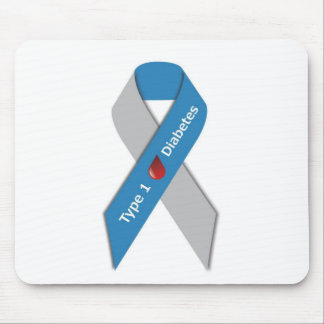 Type 1 Diabetes Awareness Ribbon Mouse Pad