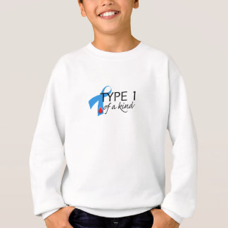 Type 1 Diabetes Blue Ribbon Awareness HOPE Sweatshirt